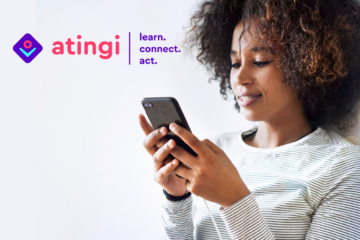 learn.connect.act. With atingi